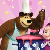igra Masa i Medved kuvaju kuvaju supu