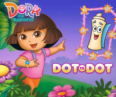 dora the explorer: dot to dot