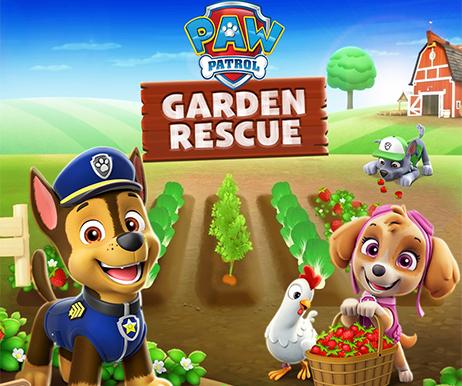 paw patrol garden rescue